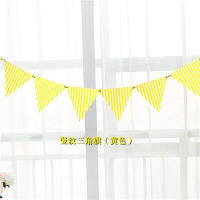 Banner Diy - 1set Dot Stripe Paper Flag Banner Amp Flags Garland Floral Bunting Banners Diy Kids Birthday Wedding - Kit Letters ()