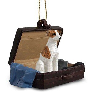 Conversation Concepts Brindle/White Whippet Traveling Companion Dog Ornament