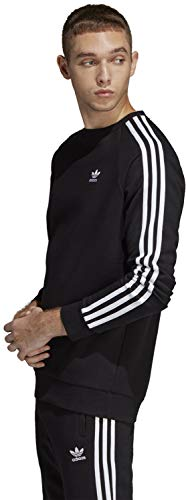3 Adidas stripes Black Man Sudadera Crew f8O5w5q