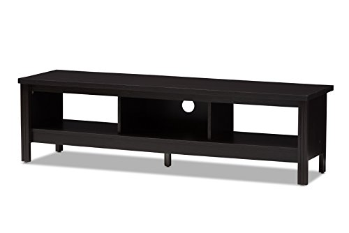 Baxton Studio 146-424-A8291-AMZ Leuna TV Stand, Wenge Dark Brown