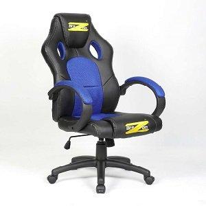BraZen Shadow PC Gaming Chair - Black/Blue 17827