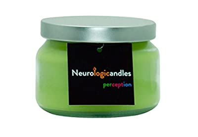 Neurologicandles: Perception. A 10oz Handmade Aromatherapy 100% Soy Candle Made By Neuroscientists: Botanic Smell (Honeysucke, Patchouli, Sandalwood)