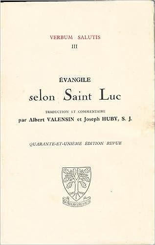 En ligne Evangile selon Saint Luc pdf ebook