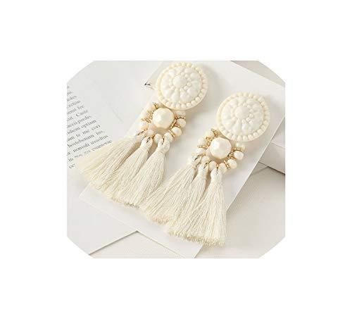 Long Drop Dangle Fringe Earrings Vintage Women Tassel Earrings Boho Statement Brand ()