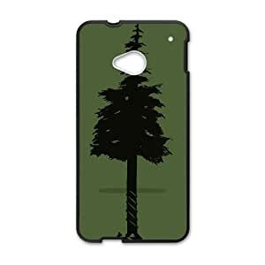 HTC One M7 Cell Phone Case Black BUILD TREES VIU020089