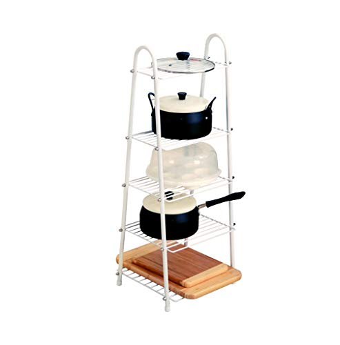 (MQRT LSY# Trapezoidal Rack, White American Five-Layer Truss Package Rack Display Stand Shelf Kitchen Living Room Multipurpose Storage Rack Five Floors Punch Free ZMR&)