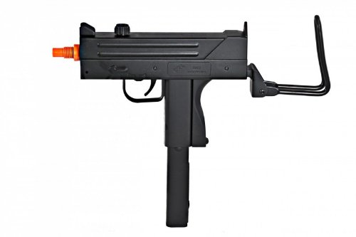 - BBTac M42F Airsoft SMG Folding Wire Stock 200 FPS Spring Gun with 26 Round Clip/Magazine