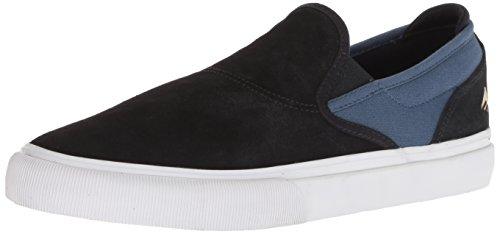 Image of Emerica Men's Wino G6 Slip-ON Skate Shoe, Black/Blue, 10 Medium US