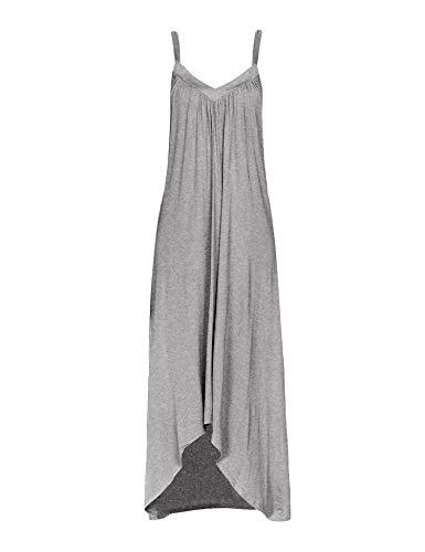 (Ekouaer Womens Sleeveless Long Nightgown Summer Slip Night Dress Cotton Sleepshirt Chemise,A-flower Grey_6696,XX-Large)