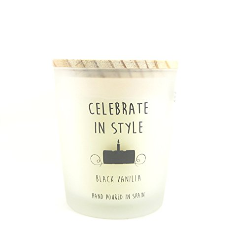 Cereria Molla Hand Poured Luxury Candle Made in Spain Celebrate In Style Black Vanilla by Cereria Molla