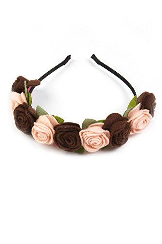 Ludwig & Therese Trachten Haarreif Blütenzauber braun/creme A060022