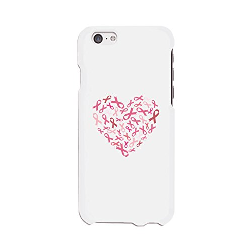 365 Printing Heart Pink Ribbon Phone Case Breast Cancer Awareness For iPhone 6 Ribbon Cell Phone Case