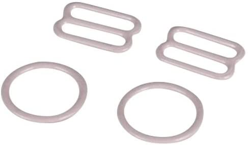 Porcelynne Beige Nylon Coated Metal Bra Strap Rings and Sliders 1//2 or 13mm 1 Set