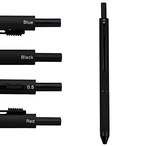 DunBong 4 in 1 Multicolor pen, Metal Cased Multifunction Pen, 0.5mm Mechanical Pencil, Red Ball Pen, Blue Ball Pen and Black Ball Pen