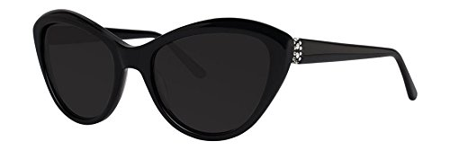 Vera Wang Women's V445 Cateye Sunglasses, Black, 54 - Sunglasses Wang