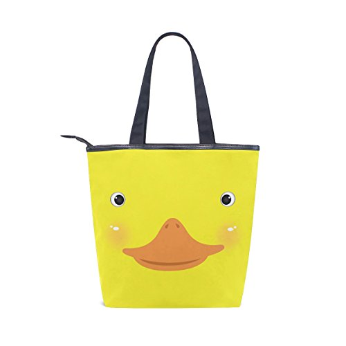 Canvas Womens Bag Duck MyDaily Tote Shoulder Cute Yellow Face Handbag qcUxTcBw5R