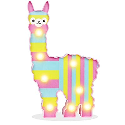 Glintee Unicorn LED Night Lamp Decorative Marquee Signs Battery Operated Light for Party Supplies -Wall Decoration for Living Room,Bedroom(Pink Unicorn Head) (Colorful Llama): Home Improvement