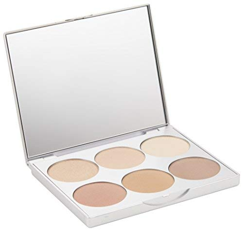 La Bella Donna | Clean Color Multi-Use Palette, Formulated With Pure & Clean Ingredients - Eyes to Blush, Contour to Highlight, Natural Mineral Makeup Kit, No Parabens or Fragrance - Positano best contouring palette