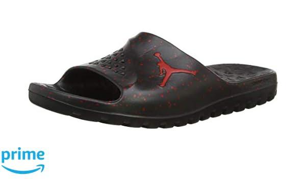 a1617b543e765 Amazon.com | Jordan Mens Jordan Superfly Team Slide Black University ...