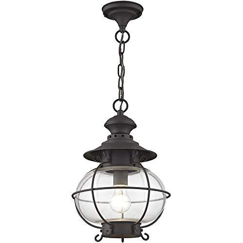 Livex Lighting 2225-07 Harbor 1-Light Outdoor Hanging Lantern, Bronze ()