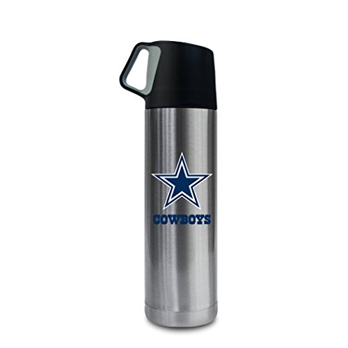 NFL Dallas Cowboys 17oz Double Wall Stainless Steel Coffee Thermos with Cup ()