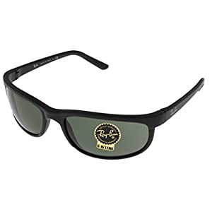 Ray Ban Predator Sunglasses Mens 100% UV Protection Black Rectangular RB2027 W1847