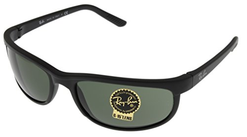 Ray Ban Predator Sunglasses Mens 100% UV Protection Black Rectangular RB2027 ()
