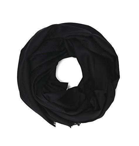 (Salvatore Ferragamo Women's 536417 Black Silk Scarf)