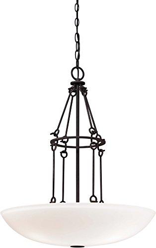 Minka Lavery Pendant Chandelier Ceiling Lighting 4972-269, Kingsgate Large Bowl, 3 Light, Kona Black