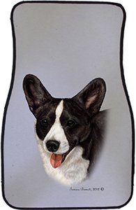 Black Brindle Corgi Car Floor Mats - Carepeted All Weather Universal Fit for Cars & Trucks by Unknown (Image #1)