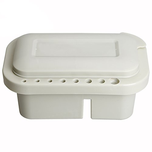 Multifunction Brush Basin, Paint Brush Tub with Brush Holder and Palette by Looneng