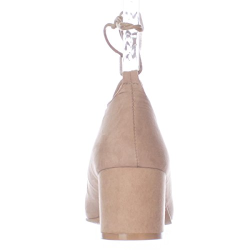 Tie Shoes Lace Chunky Wanted Pump Abby up Taupe Heel Ankle Women's YqdBdAO