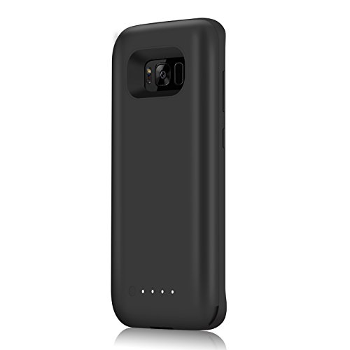 Galaxy S8 Battery court case YISHDA 5000mAh extra minimal Rechargeable External Extended Battery mobile Charger Protective Charging court case beverages Pack capability Bank Cover for Samsung Galaxy S8 2017 Black External Battery Packs