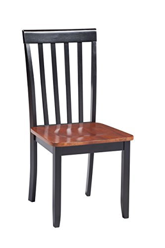 Boraam 21031 Bloomington Dining Chair, Black/Cherry, Set of 2 by Boraam (Image #2)
