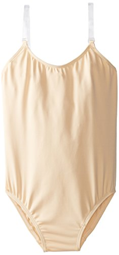 (Capezio Big Girls' Over's and Under Camisole Leotard, Nude, Medium)