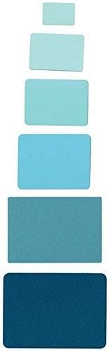 Sizzix 657908 Framelits Die Set Rectangles by Rachael Bright, Pack of 6, Multicolor ()