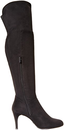 Chinese Winter CL Laundry by Black Suede Newly Boot Stretch Women's XqHSFw5H