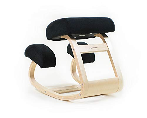 Sleekform Ergonomic Balancing Kneeling Chair | Rocking Posture Wood Stool | for Home Office & Desk...