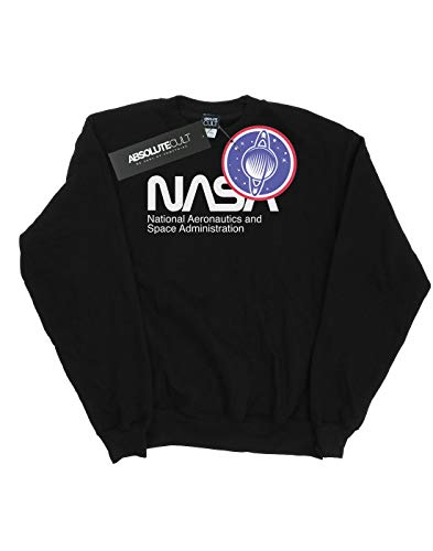 And Nasa Sweat Aeronautics shirt Homme Space Noir RwHS6Fqx