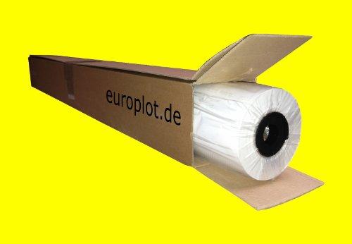 (0,32€/m²) Plotterpapier 1 Rolle | 90g/m², 91,4cm (914mm) breit, 50m lang, CAD, A0 unbeschichtet