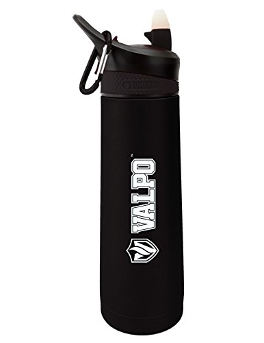Fanatic Group Valparaiso University Dual Walled Stainless Steel Sports Bottle, Design 1 - Black by Fanatic Group (Image #1)