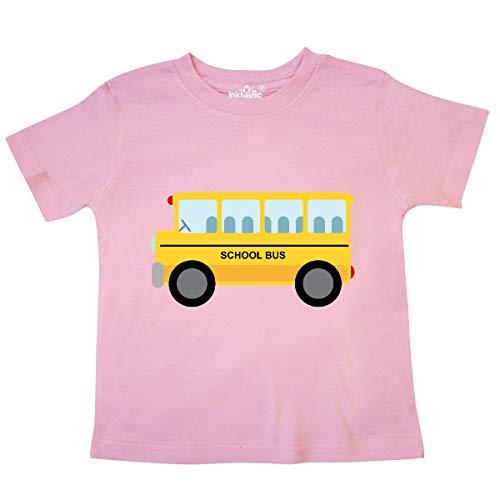 (inktastic - School Bus Toddler T-Shirt 2T Pink daf7 )