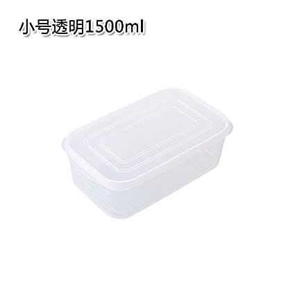 UWSZZ Cocina caja con tapa cajas de plástico transparente sellada caja refrigerada frigorífico alimentos frescos rectangulares