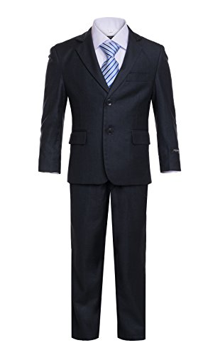 8 Ferrecci Boys JAX JR Charcoal 5pc (Charcoal Gray Tuxedo)