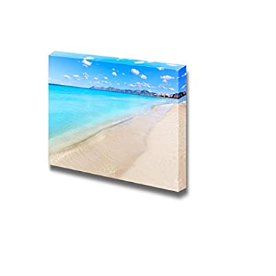 Mallorca Can Picafort Beach in Alcudia Bay at Majorca Balearic Islands of Spain, Created By a Professional Artist, Pretty Style