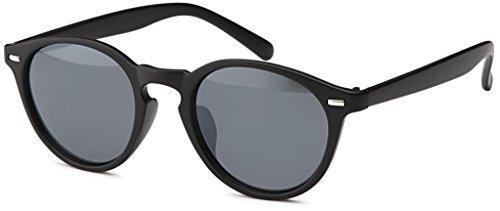hommes Unisexe soleil mat Vintage Retro Tour Femmes Rond tendance de pour amp; Noir lunettes en Lunettes nwzqnYf1