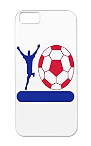 TPU Navy Player Football Football Banner Sports Stand Case Cover For Iphone 5c Shatterproof On Stand