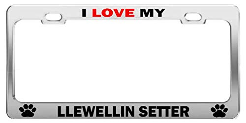 AAAnewstyleFrame I Love My LLEWELLIN Setter #r Dog Cat Lover License Plate Frame Auto Accessories