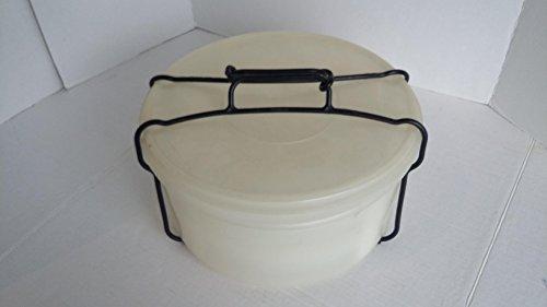 Vintage Tupperware Cake Pie Taker 2 Stacking Pie Trays Dividing Racks