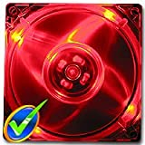 LOGISYS Computer CF120RD 120MM RED QUAD 4-LED ULTRA BRIGHT CLEAR PC CASE FAN